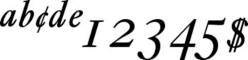 Thumbnail Ehrhardt Italic Expert - font