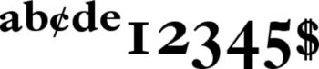 Thumbnail Ehrhardt Semibold Expert - pc fonts