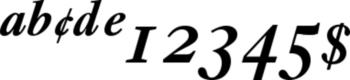 Thumbnail Ehrhardt Semibold Italic Expert - fonts windows
