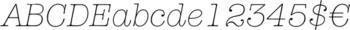 Thumbnail ITC American Typewriter Light Italic - typography