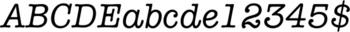 Thumbnail ITC American Typewriter Medium Italic - typefaces