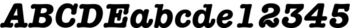 Thumbnail ITC American Typewriter Bold Italic Alternate - font