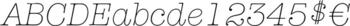Thumbnail ITC American Typewriter Light Italic Alternate - typeface